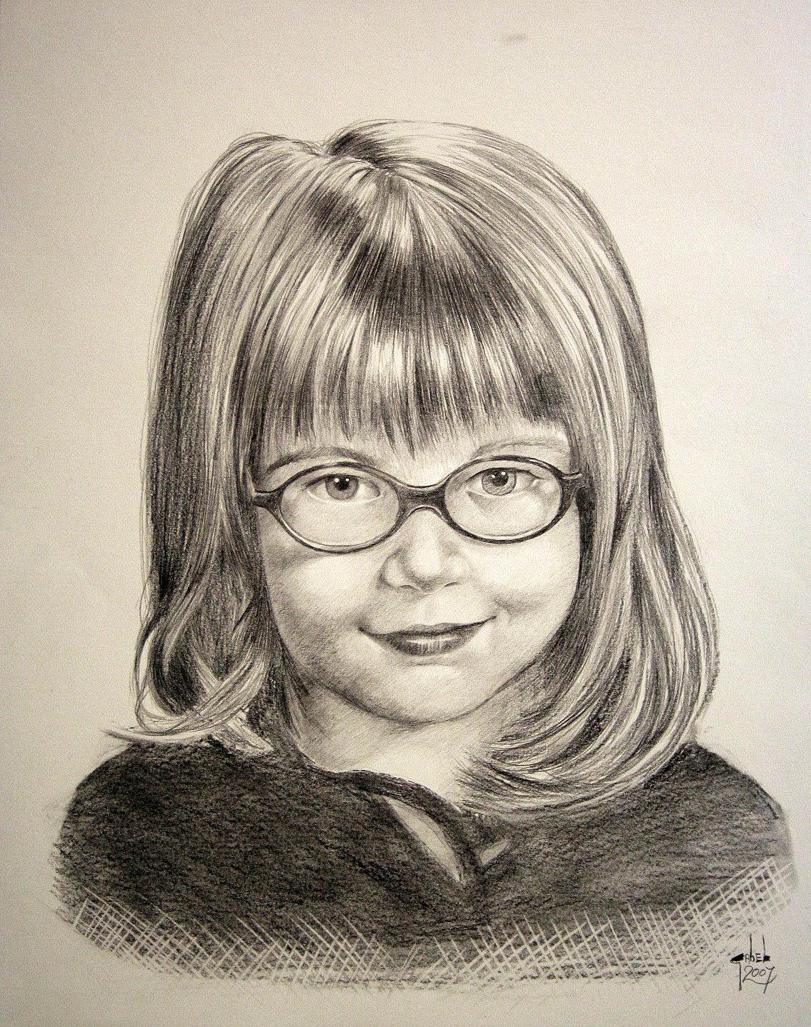 enfant crayon graphite