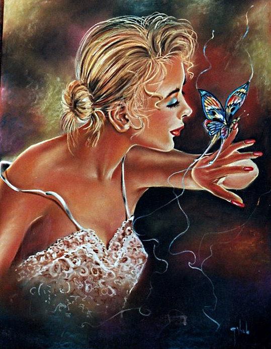 papillon, tendresse, amour