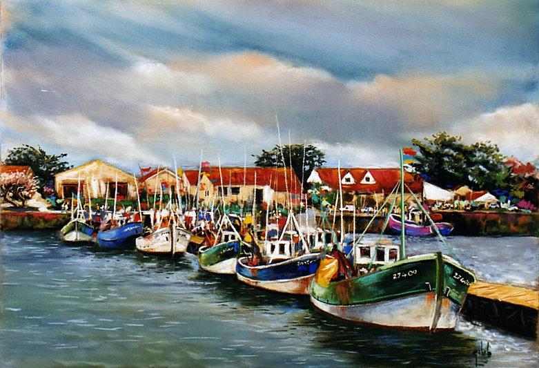 bateau, port, mer