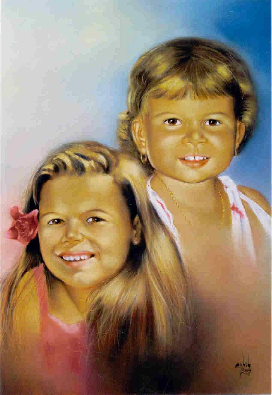 portrait enfant ( pastel sec )