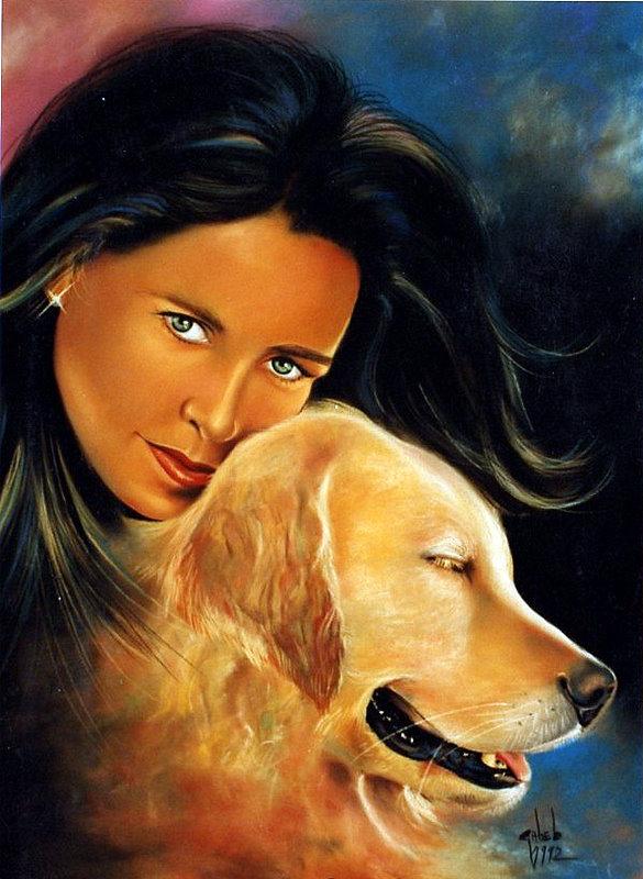 chien, visage